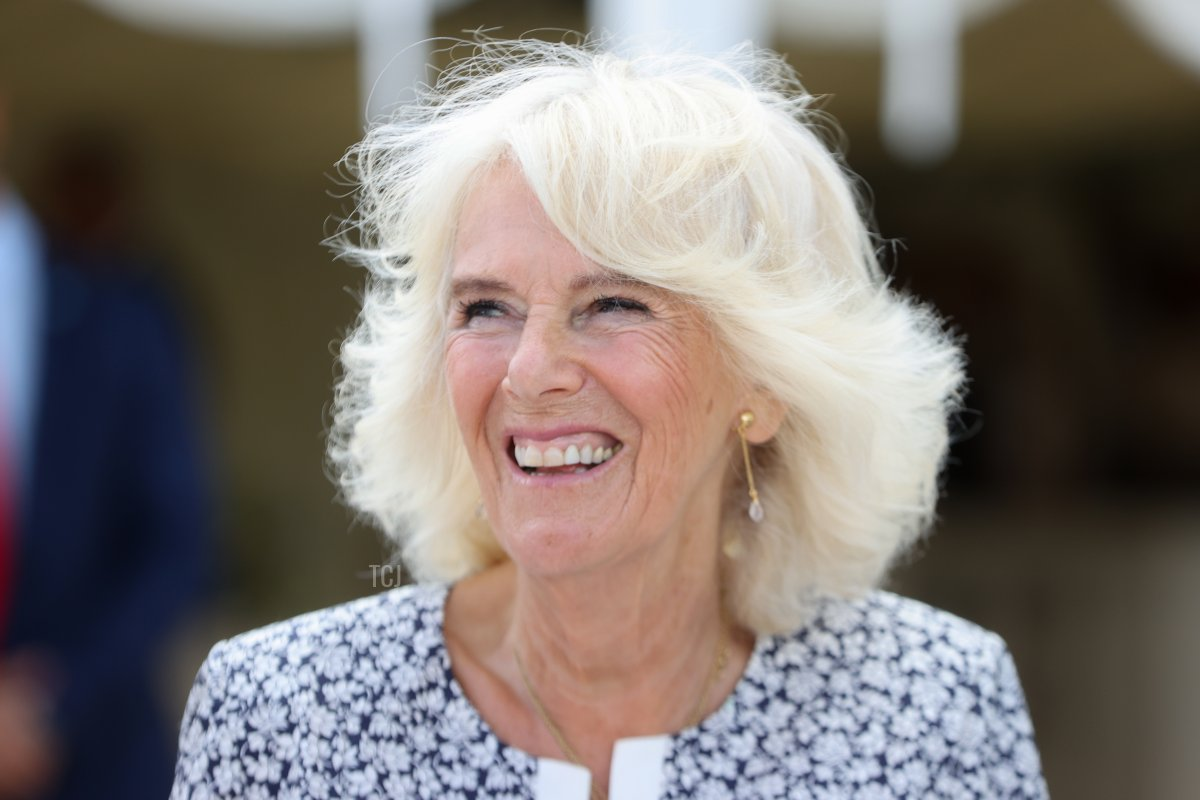 Camilla, Duchess of Cornwall during a visit to Llanerch Vineyard on July 07, 2021 in Pontyclun, Wales