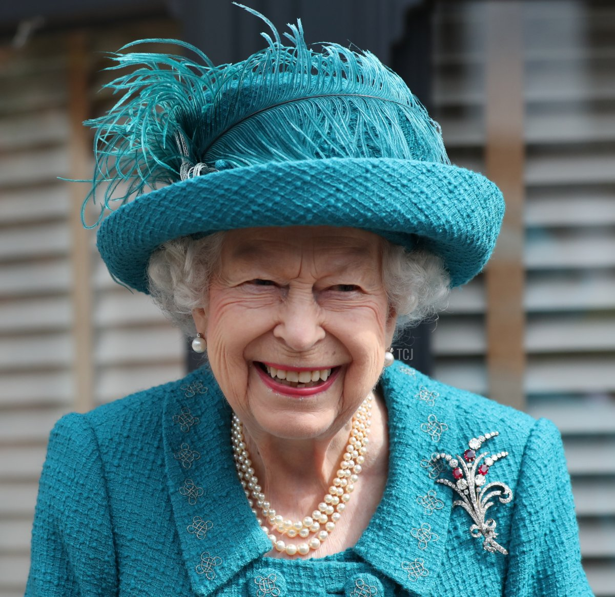 Queen Elizabeth II visits the set of the long running television series Coronation Street, on July 8, 2021 in Manchester, England