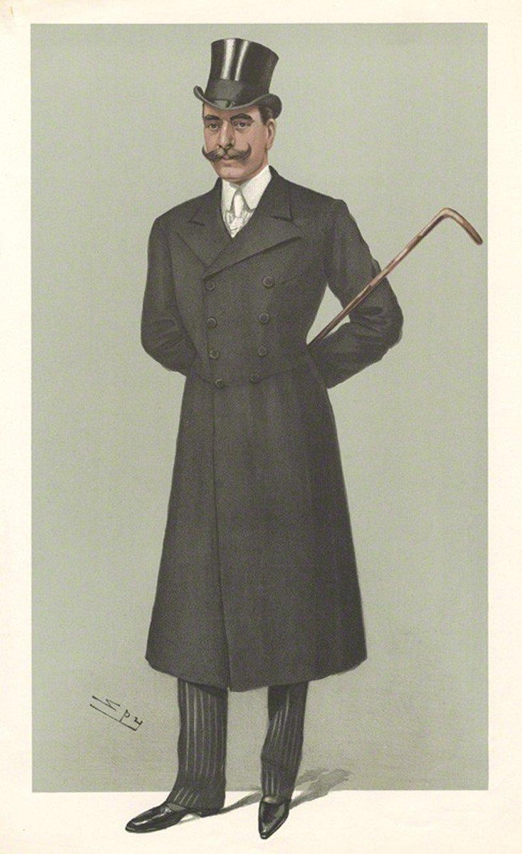 Princes No.27: Caricature of Maj HSH Prince Francis of Teck, 1902