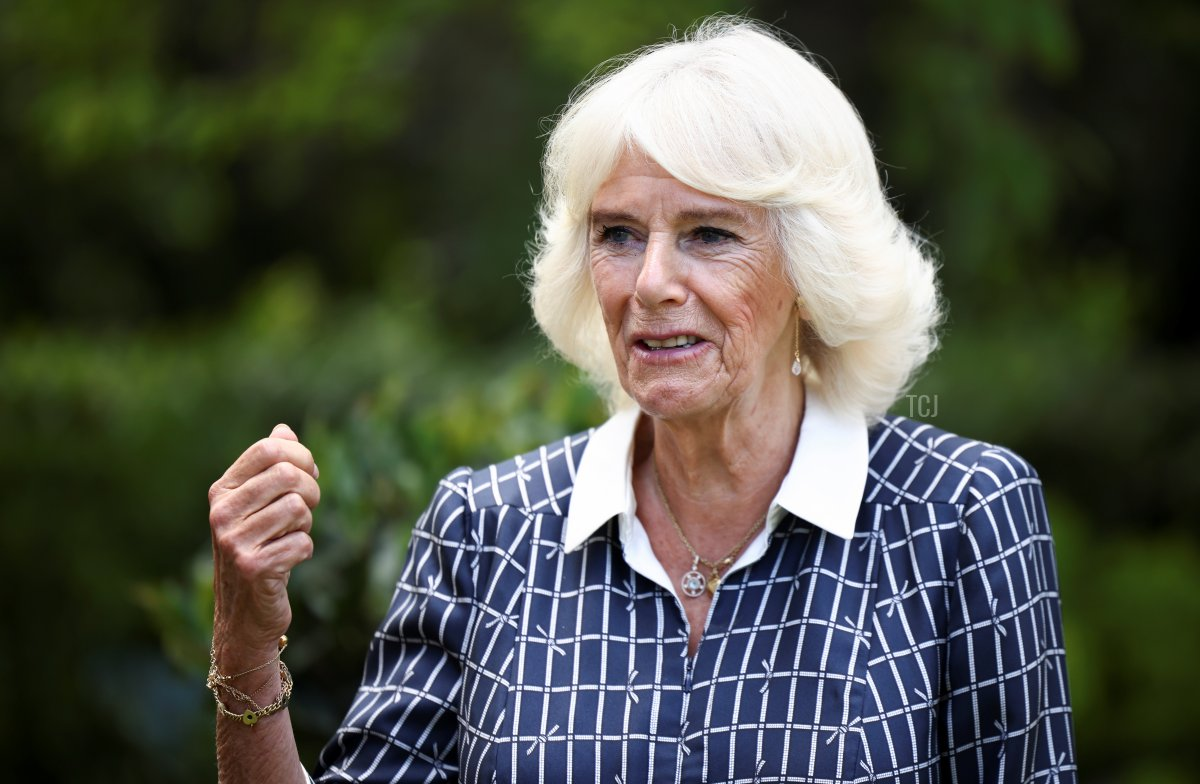 Camilla, Duchess of Cornwall visits Helen & Douglas House on July 13, 2021 in Oxford, England