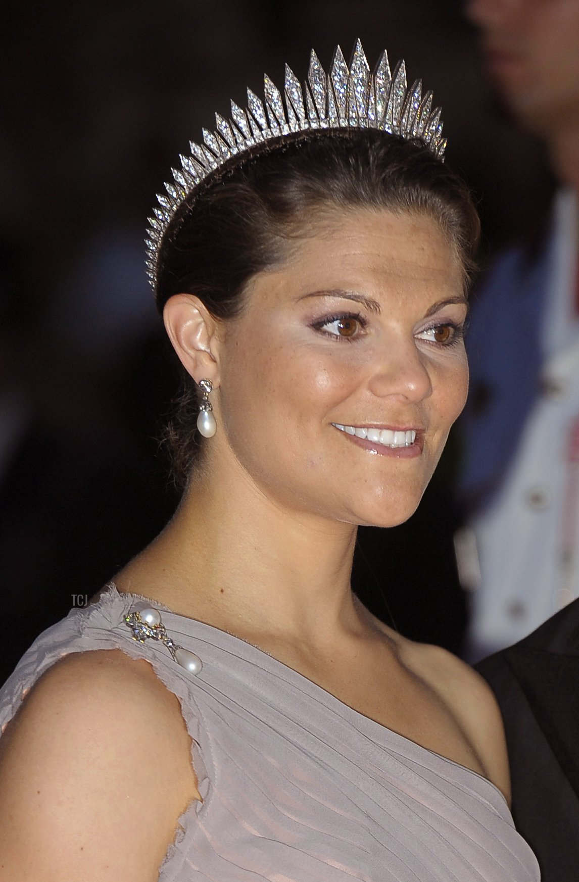 Sweden's Crown Princess Victoria and Duke of Vastergotland of Sweden Prince Daniel arrive for a dinner at Opera terraces after the religious wedding ceremony of Prince Albert II of Monaco and Princess Charlene of Monaco on July 2, 2011 in Monaco