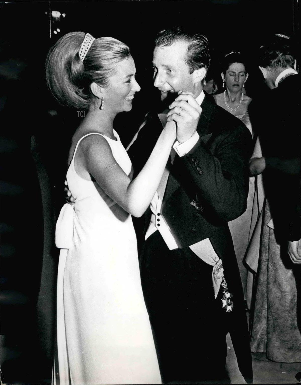 Princess Paola dances at the Waterloo Ball, June 1965
