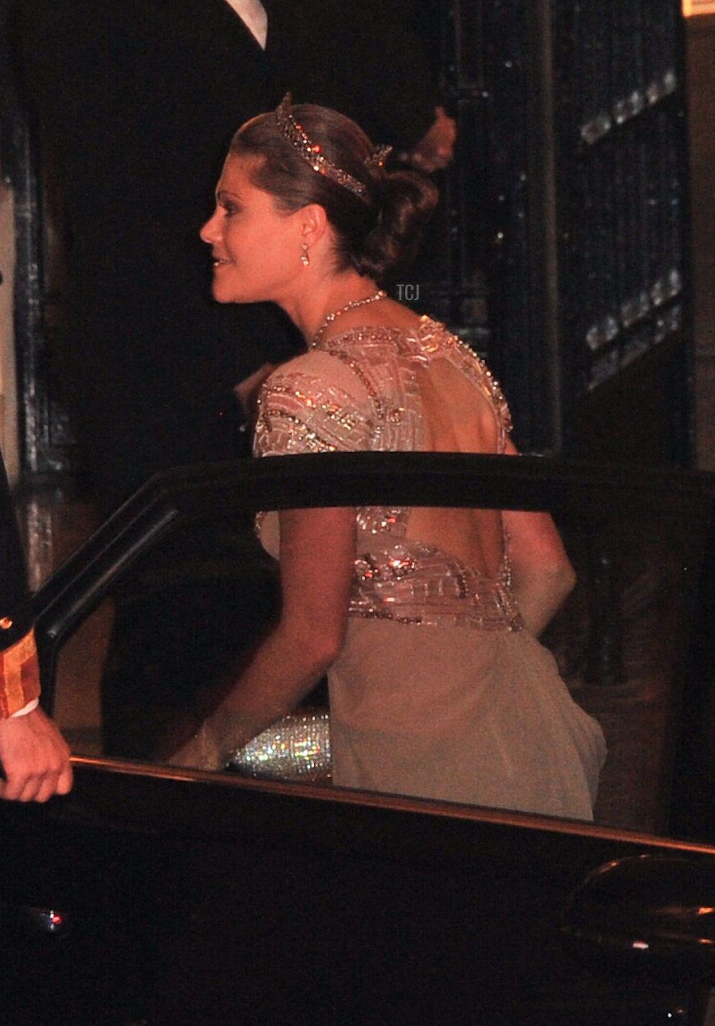 Crown Princess Victoria of Sweden and Prince Daniel attending the Gala dinner for the wedding of Prince Guillaume Of Luxembourg and Stephanie de Lannoy at the Grand-ducal Palace in Luxembourg on October 19, 2012