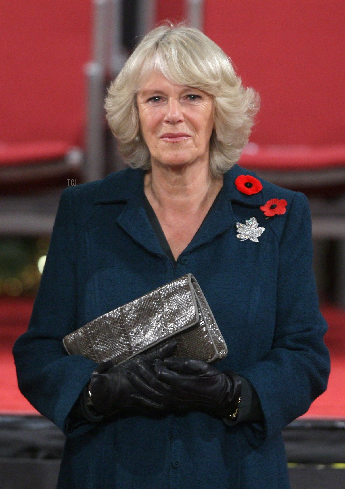 Camilla, Duchess of Cornwall stands next to Governor General Michaëlle Jean as they attend a welcome ceremony at the Mile One Centre on November 2, 2009 in Saint John's, Canada