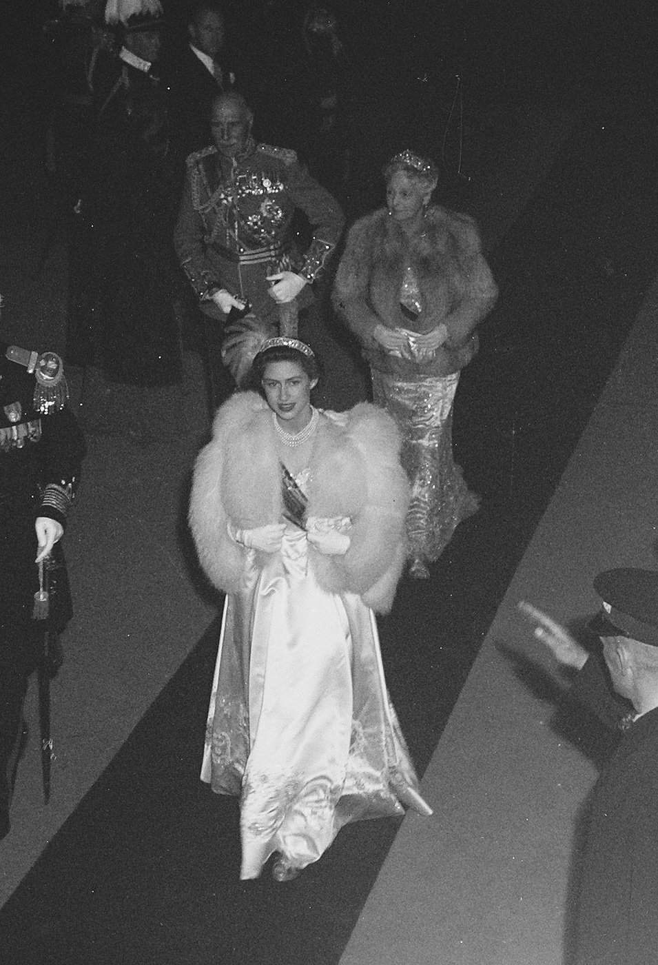 Prince Alexander, Earl of Athlone and Princess Alice, Countess of Athlone accompany Princess Margaret during the inauguration celebrations for Queen Juliana of the Netherlands, September 1948