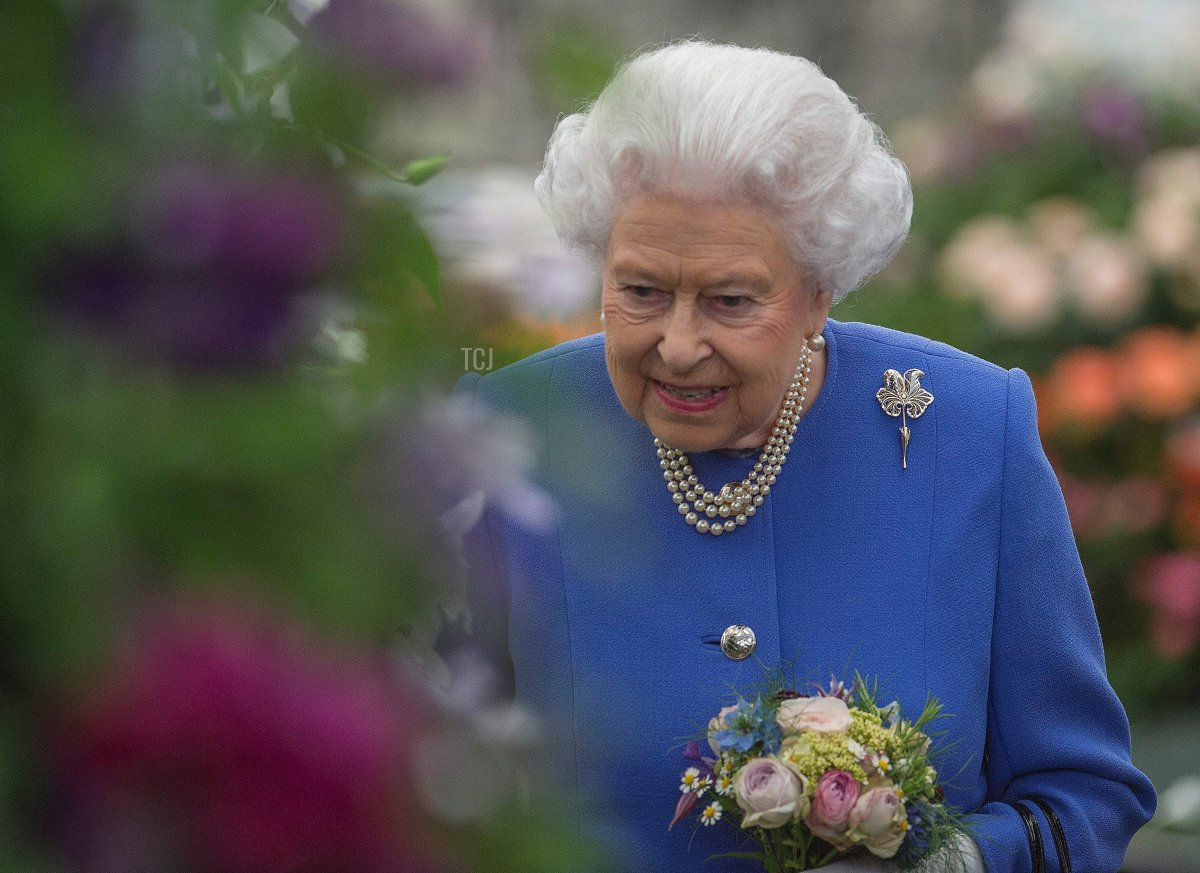 Britain's Queen Elizabeth II visits the Chelsea Flower Show in London on May 22, 2017