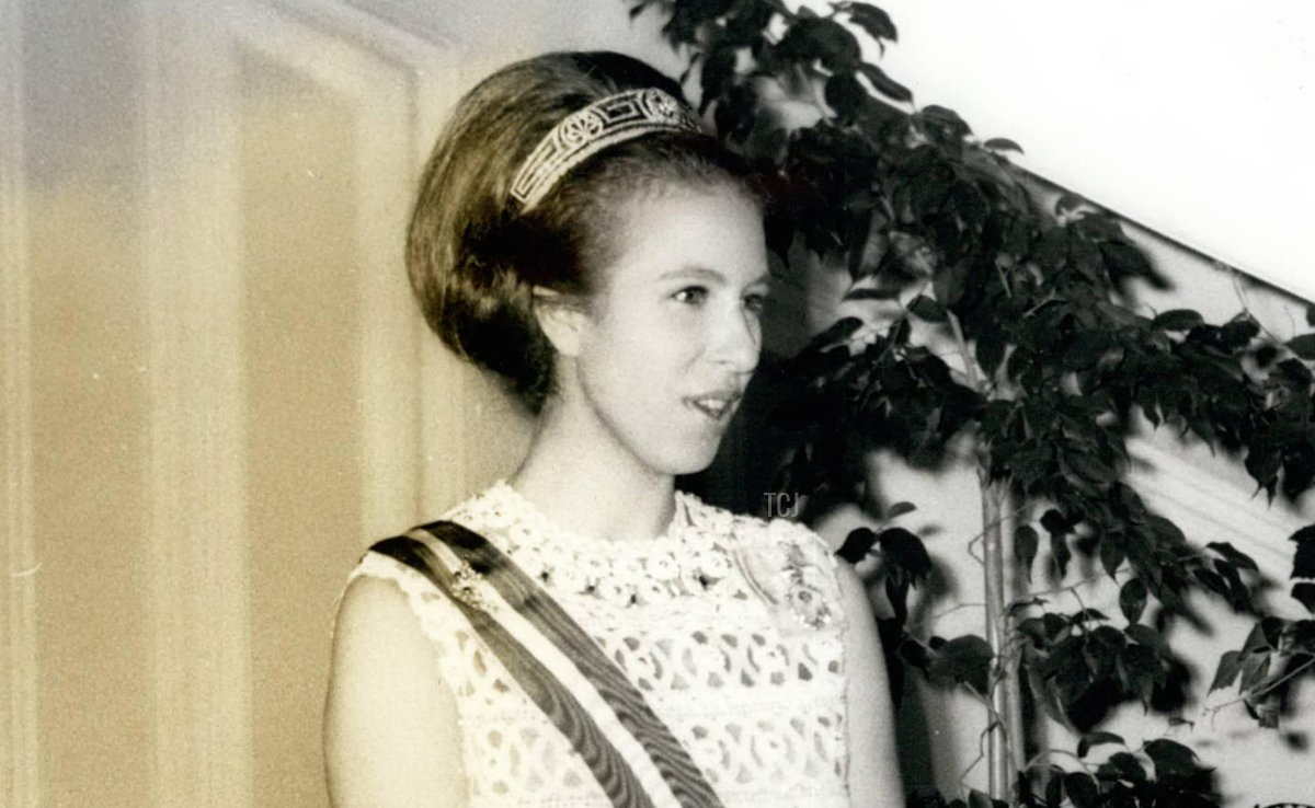 Princess Anne on an official visit to Austria at the British Embassy in Vienna, May 1969