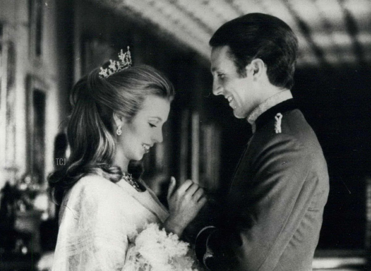 Engagement portrait of Princess Anne and Mark Phillips, 1973