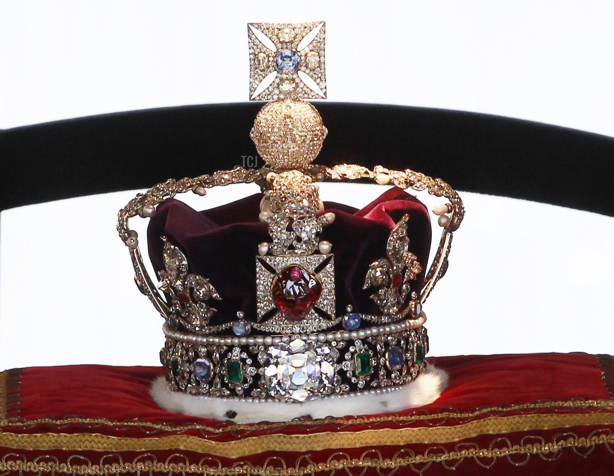 Imperial State Crown is transported from the Palace of Westminster after the State Opening of Parliament in the Palace of Westminster on May 25, 2010 in London, England