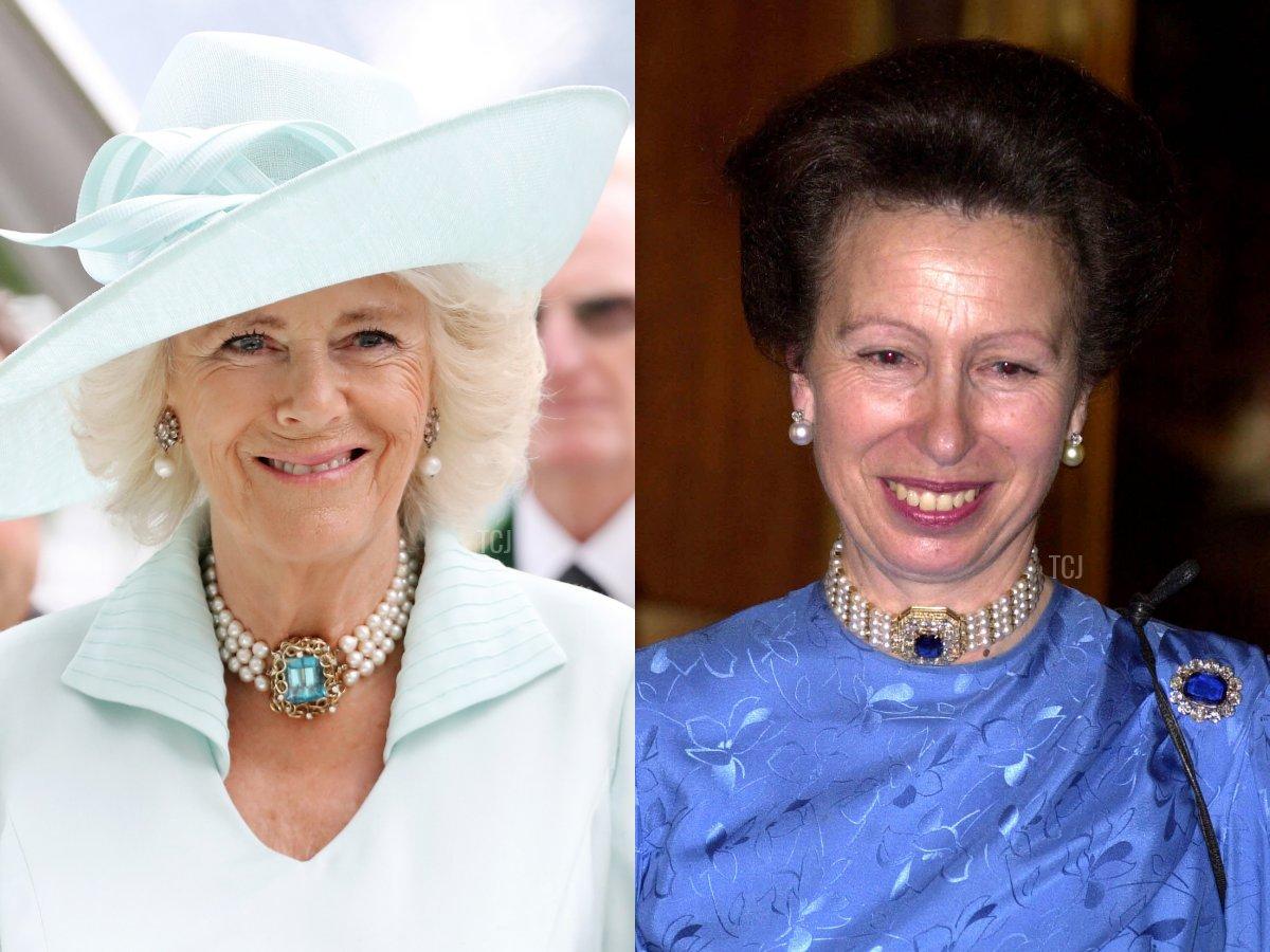 Camilla's Aquamarine & Pearl Choker, Marie Feodorovna's Pearl & Sapphire Choker