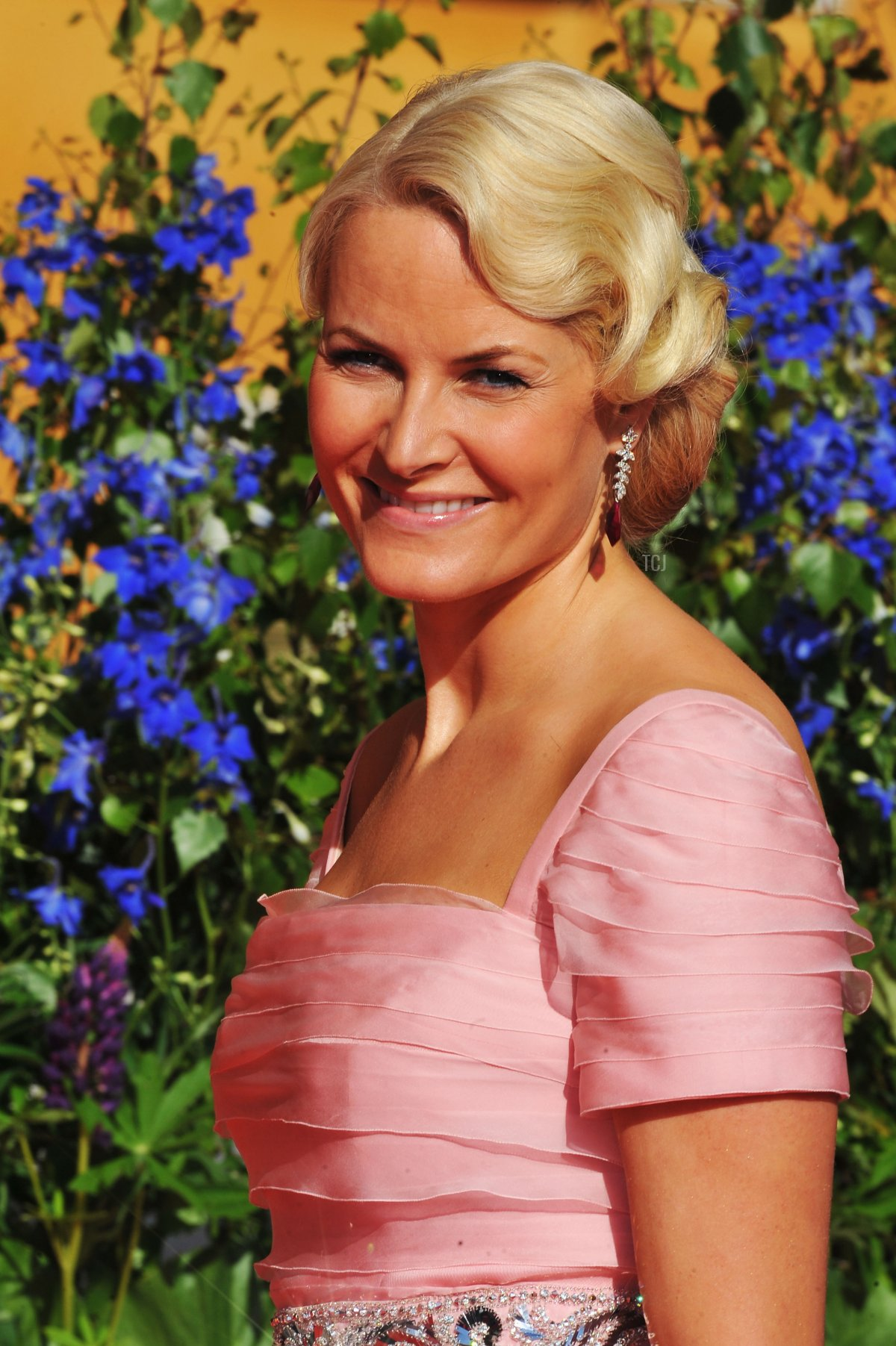 Princess Mette-Marit of Norway attends the Government Pre-Wedding Dinner for Crown Princess Victoria of Sweden and Daniel Westling at The Eric Ericson Hall on June 18, 2010 in Stockholm, Sweden