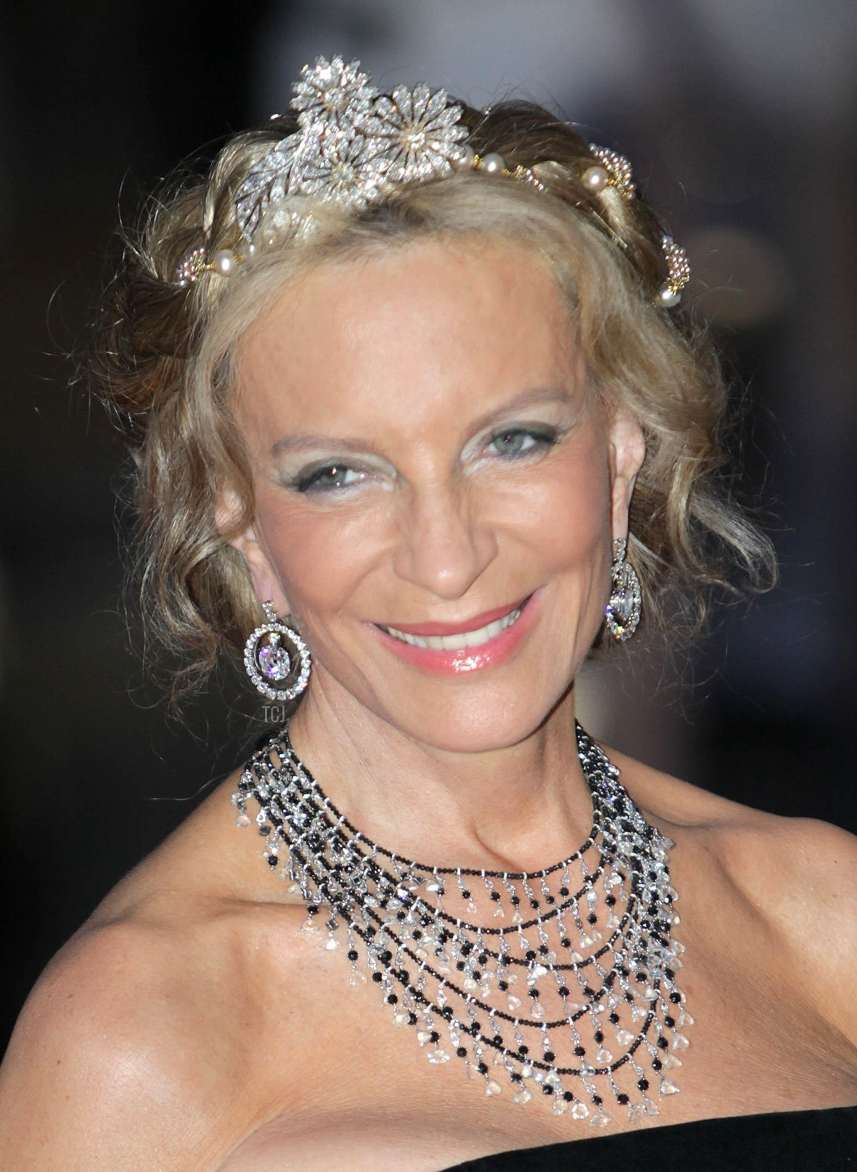 Princess Michael of Kent attend the official dinner on the Opera terraces after the religious wedding of Prince Albert II and Princess Charlene of Monaco in Monaco, 02 July 2011