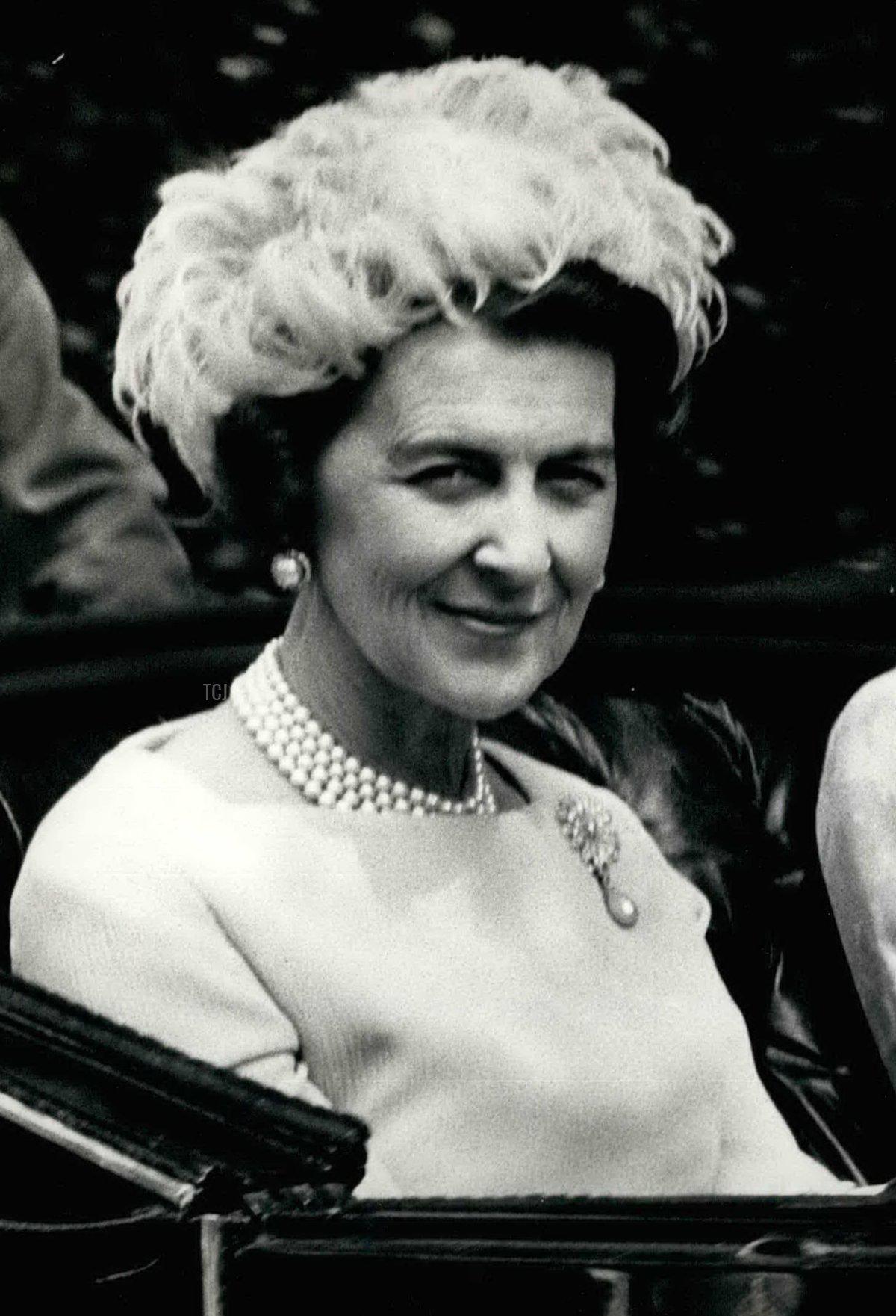 Princess Marina, Duchess of Kent at Royal Ascot, Jun. 06, 1966