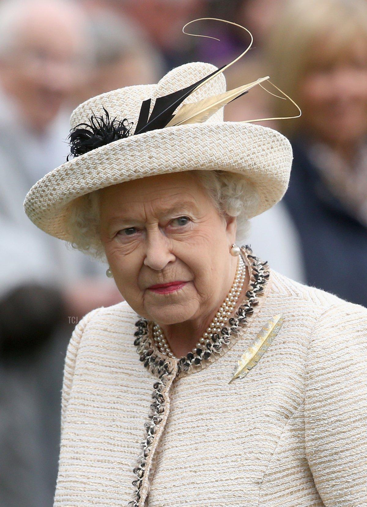 Queen Elizabeth II during the Braemar Highland Games on September 6, 2014 in Braemar, Scotland