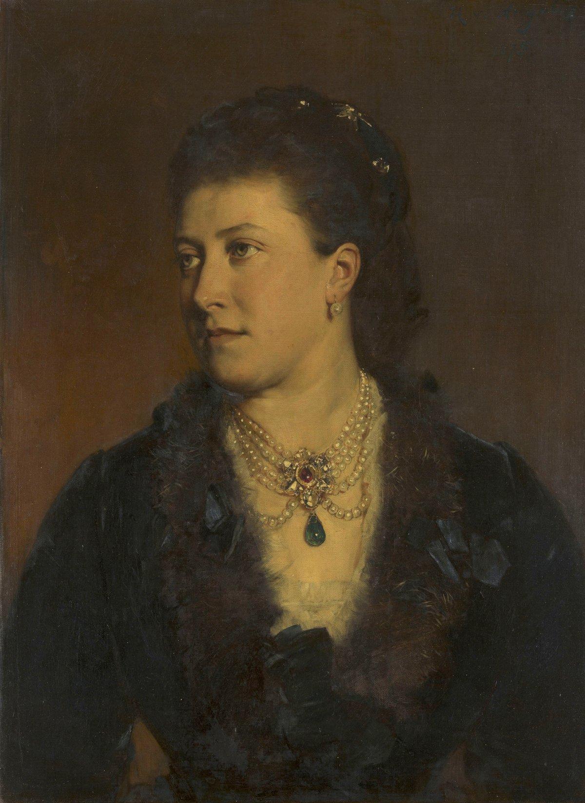 Princess Helena, Princess Christian of Schleswig-Holstein by Heinrich von Angeli, 1875