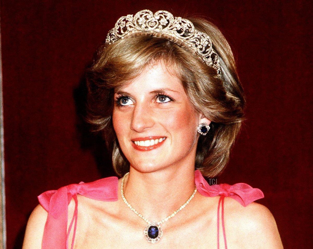 Princess Diana in Australia at the State Reception at Brisbane, April 1983