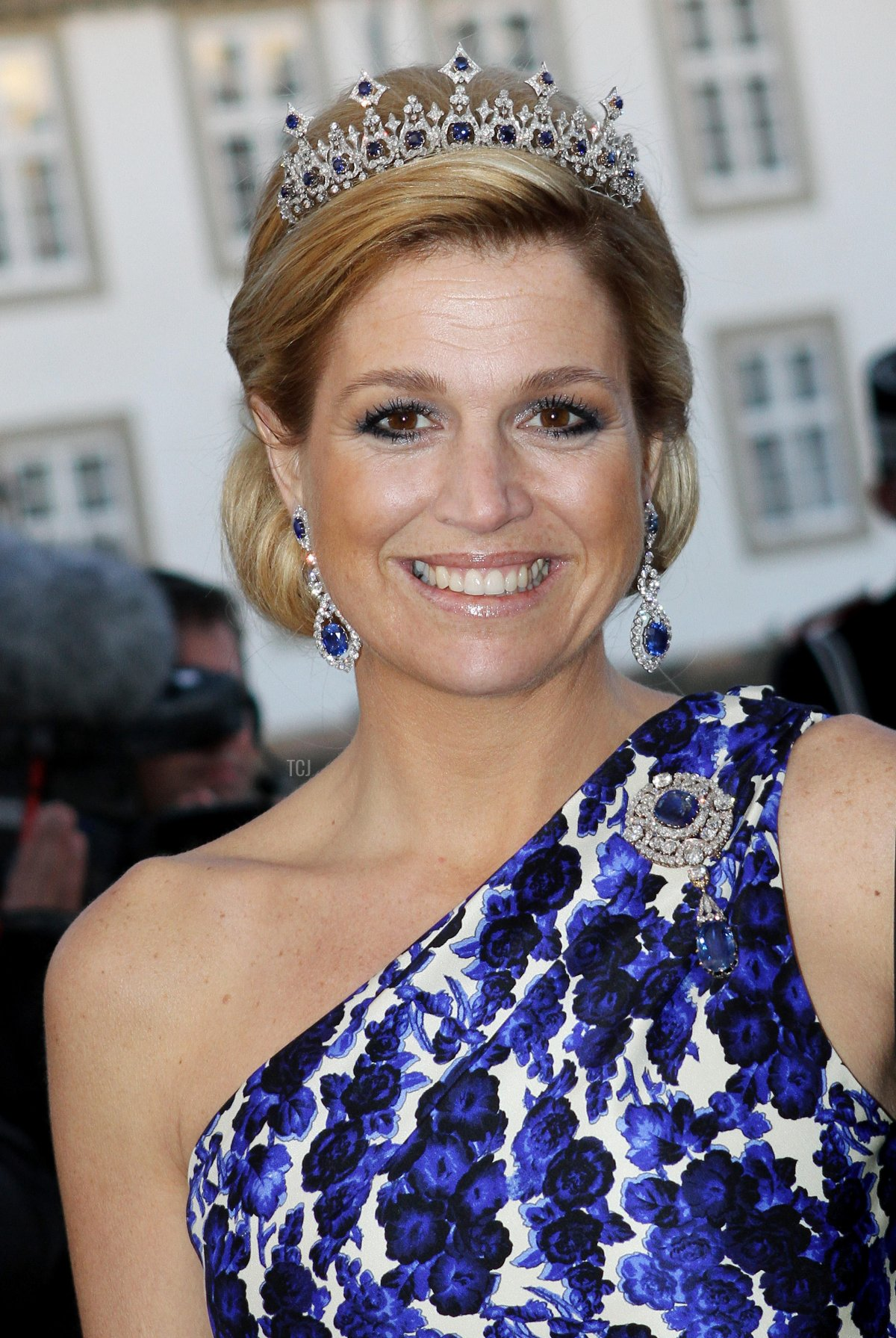 Princess Maxima of the Netherlands attends the gala dinner on the occasion of the celebration of the 70th birthday of Danish Queen Margrethe, Fredensborg Palace, Denmark, 16 April 2010