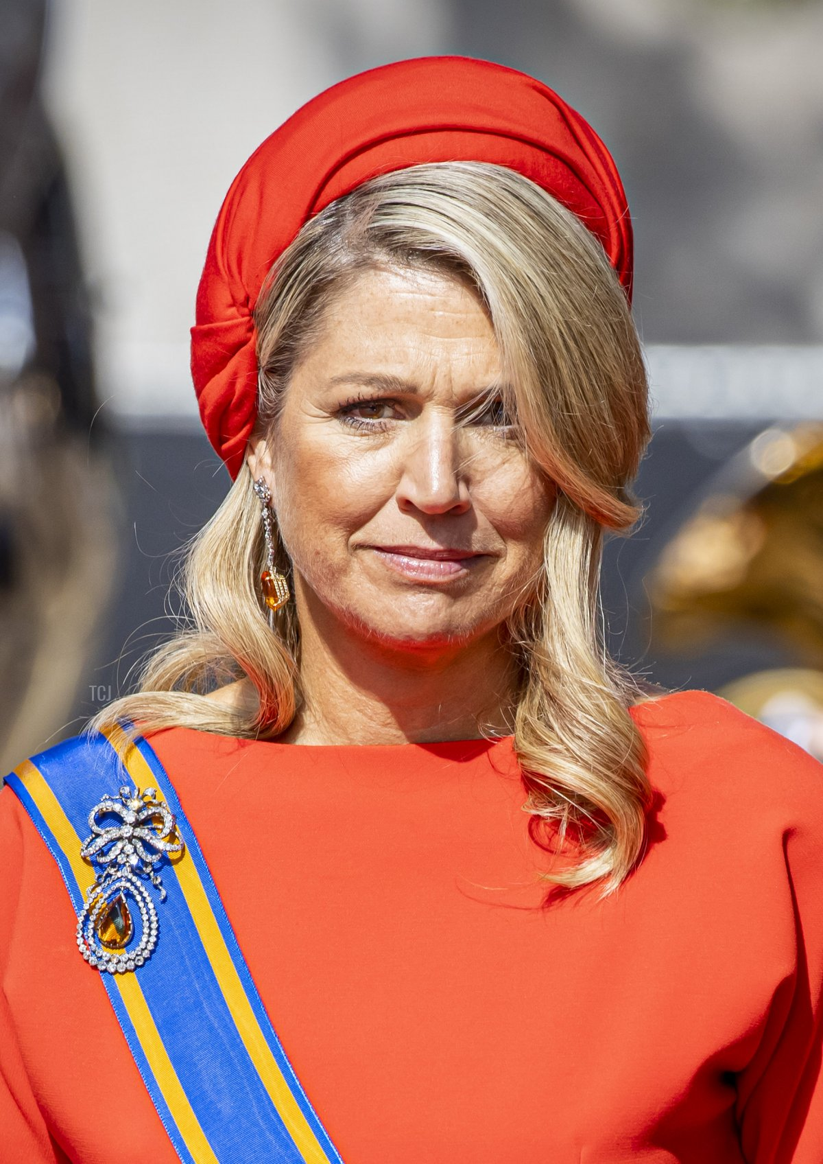 Queen Maxima of The Netherlands attends Prinsjesdag, the annual opening of the parliamentary year, in the Grote Kerk on September 21, 2021 in The Hague, Netherlands