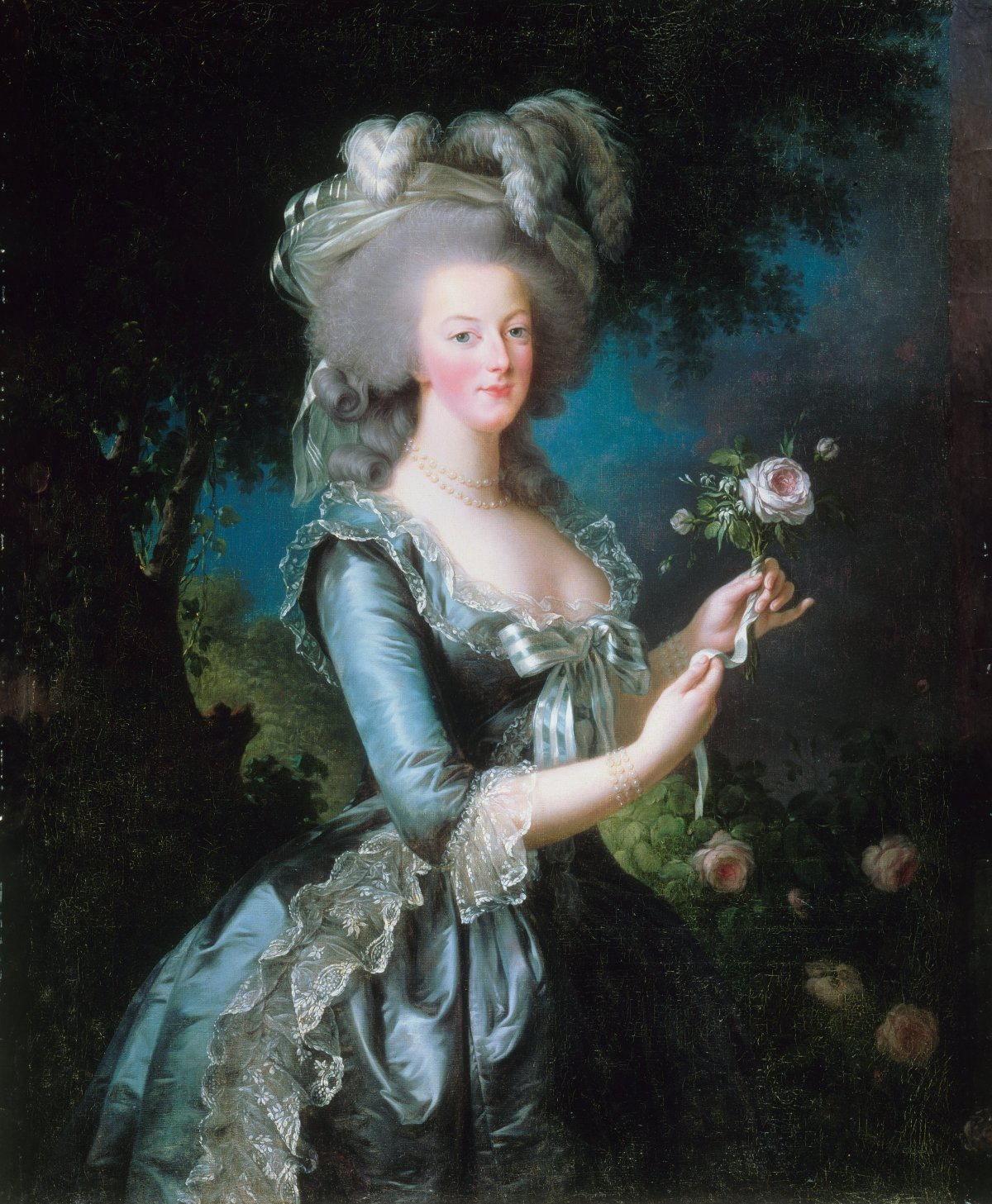 Marie-Antoinette with the Rose by Elisabeth Louise Vigée-LeBrun, ca. 1783