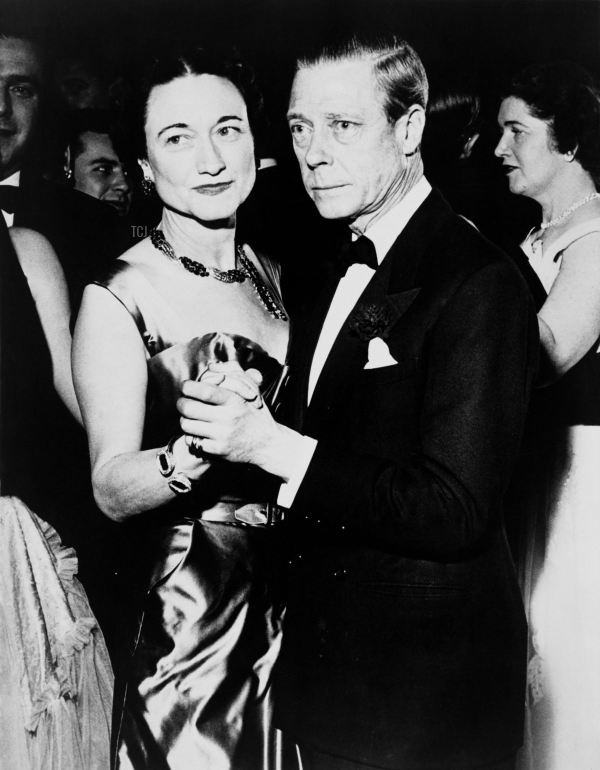 The Duke and Duchess of Windsor at the assembly ball in the Hotel Sherry-Netherland, 1950