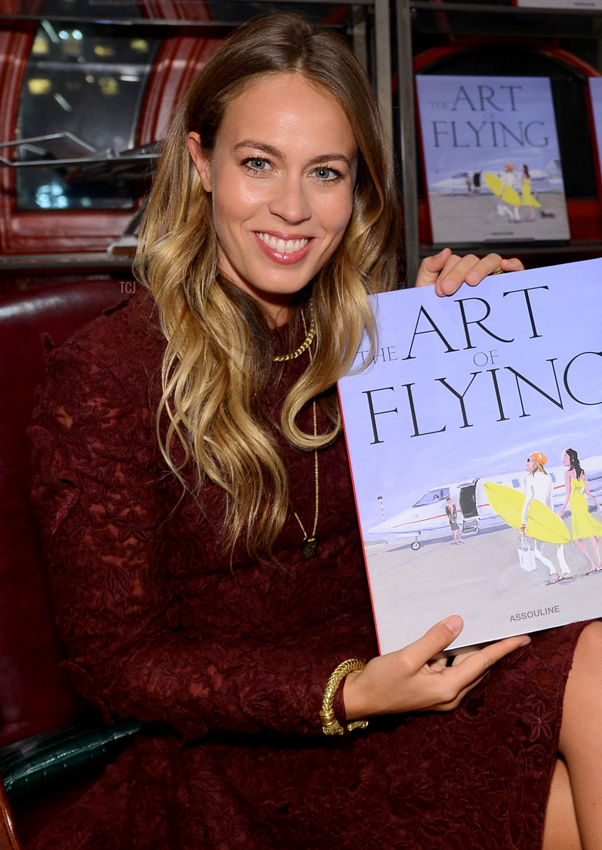 """Nina Flohr attends """"The Art of Flying"""" book launch reception at Assouline in The Plaza Hotel on November 4, 2015 in New York City"""