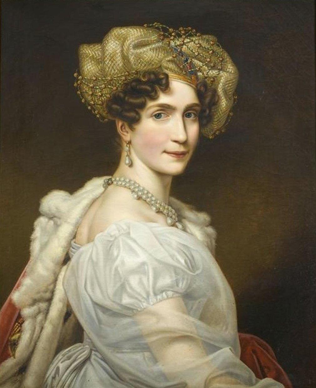Augusta of Bavaria, Duchess of Leuchtenberg, painted by Joseph Karl Stieler ca. 1820