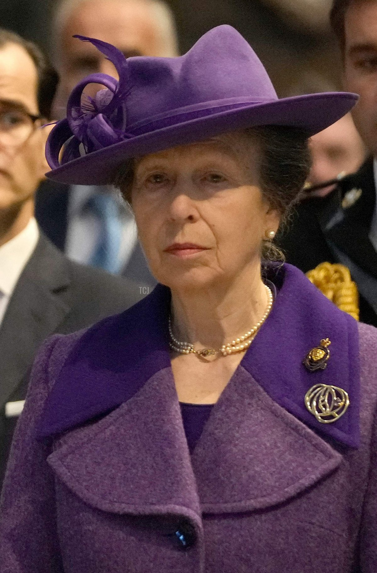 Britain's Queen Elizabeth II (L) and Britain's Princess Anne, Princess Royal (R) attend a Service of Thanksgiving to mark the Centenary of the Royal British Legion at Westminster Abbey in London on October 12, 2021