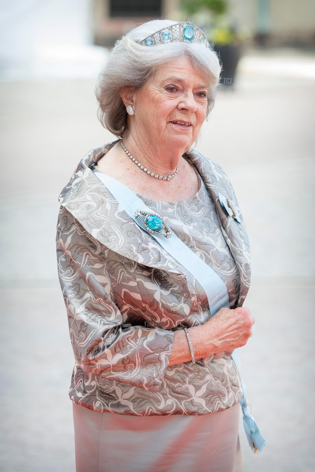 Princess Margaretha Mrs. Ambler attends the royal wedding of Prince Carl Philip of Sweden and Sofia Hellqvist at The Royal Palace on June 13, 2015 in Stockholm, Sweden