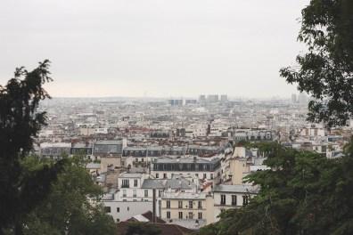 Overlooking Paris from Montmartre