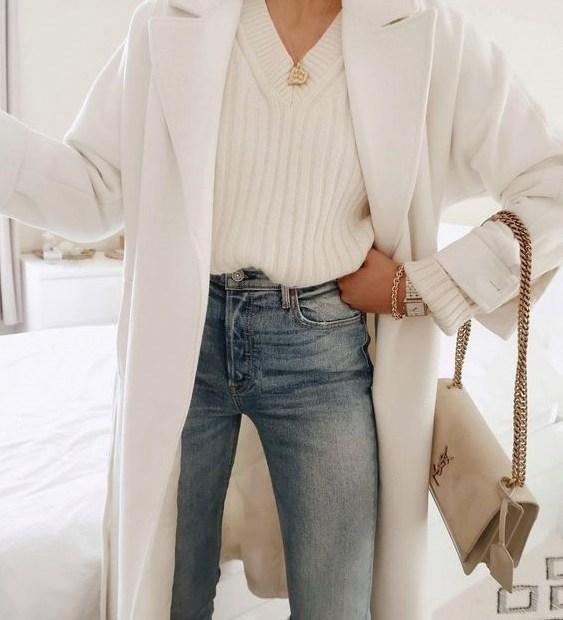 Πώς να φορέσεις λευκό παλτό 2021