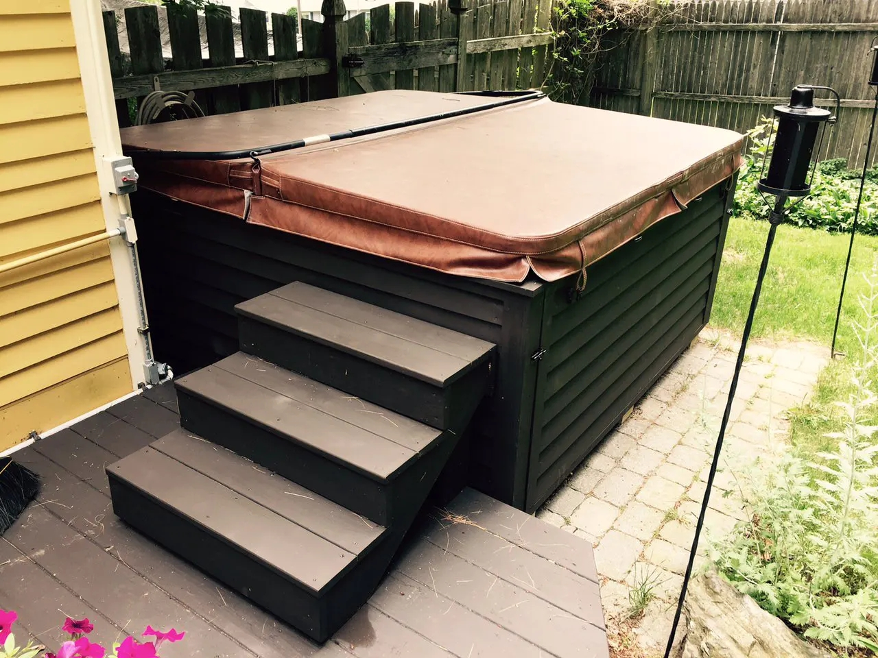 How To Build Hot Tub Steps A Step By Step Guide The Cover Guy | Wood Steps For Sale | Yard | Temporary | Design | Travel Trailer | Camper