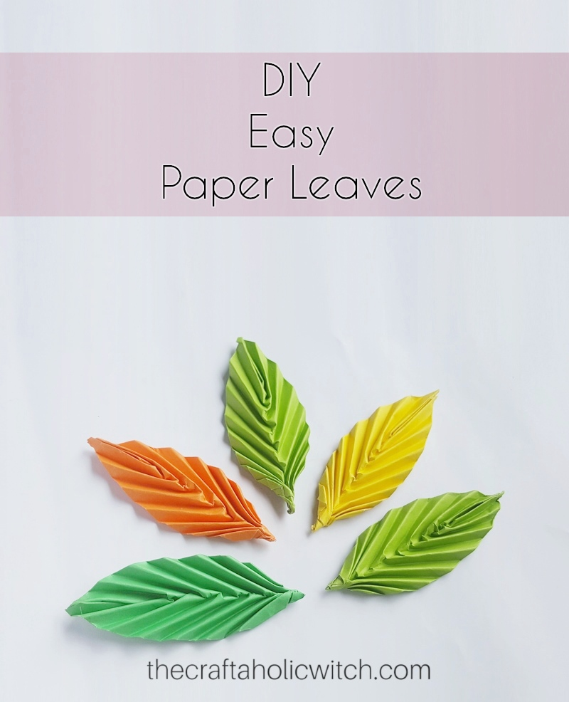 The craftaholic witchcreate easy origami leaves create easy origami leaves paper craft is a good choice for beginner crafters and among all kinds of paper crafts origami paper craft would be the best mightylinksfo