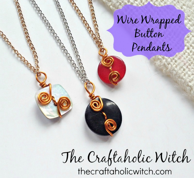 Create Wire Wrapped Button Pendants