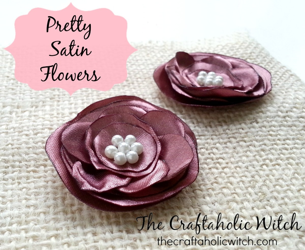 Create Pretty Satin Flowers