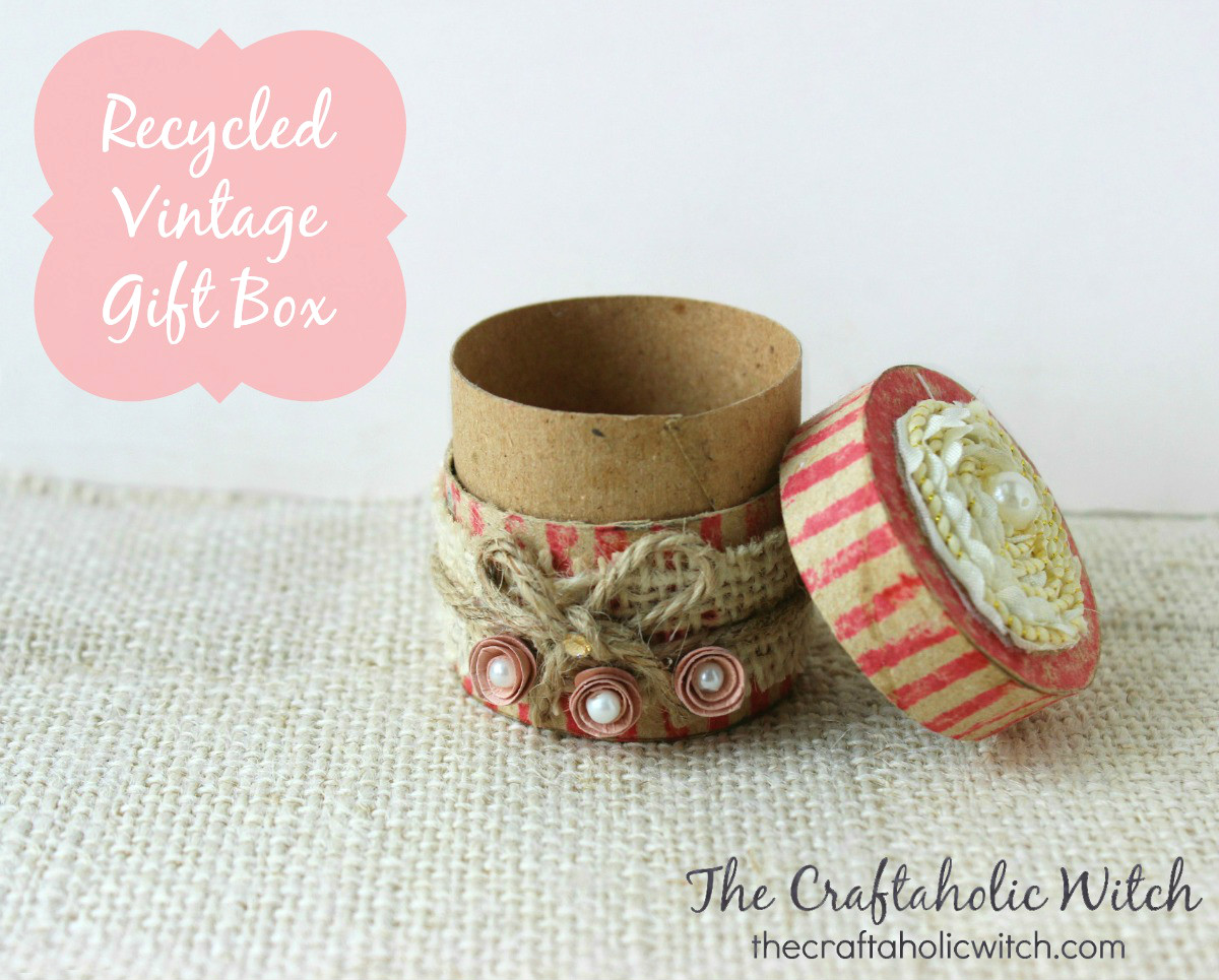 Create Recycled Vintage Gift Box