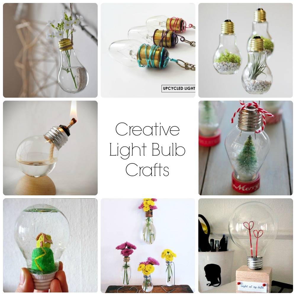 8 Creative Light Bulb Crafts