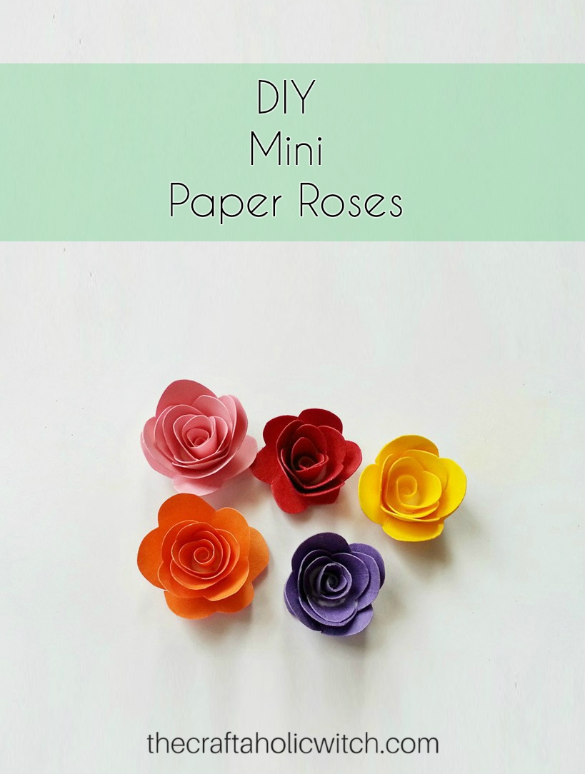 The craftaholic witchpaper flower this is one of the most easiest and prettiest flower craft ever these paper roses have endless possibilities in the craft world from scrap booking mightylinksfo