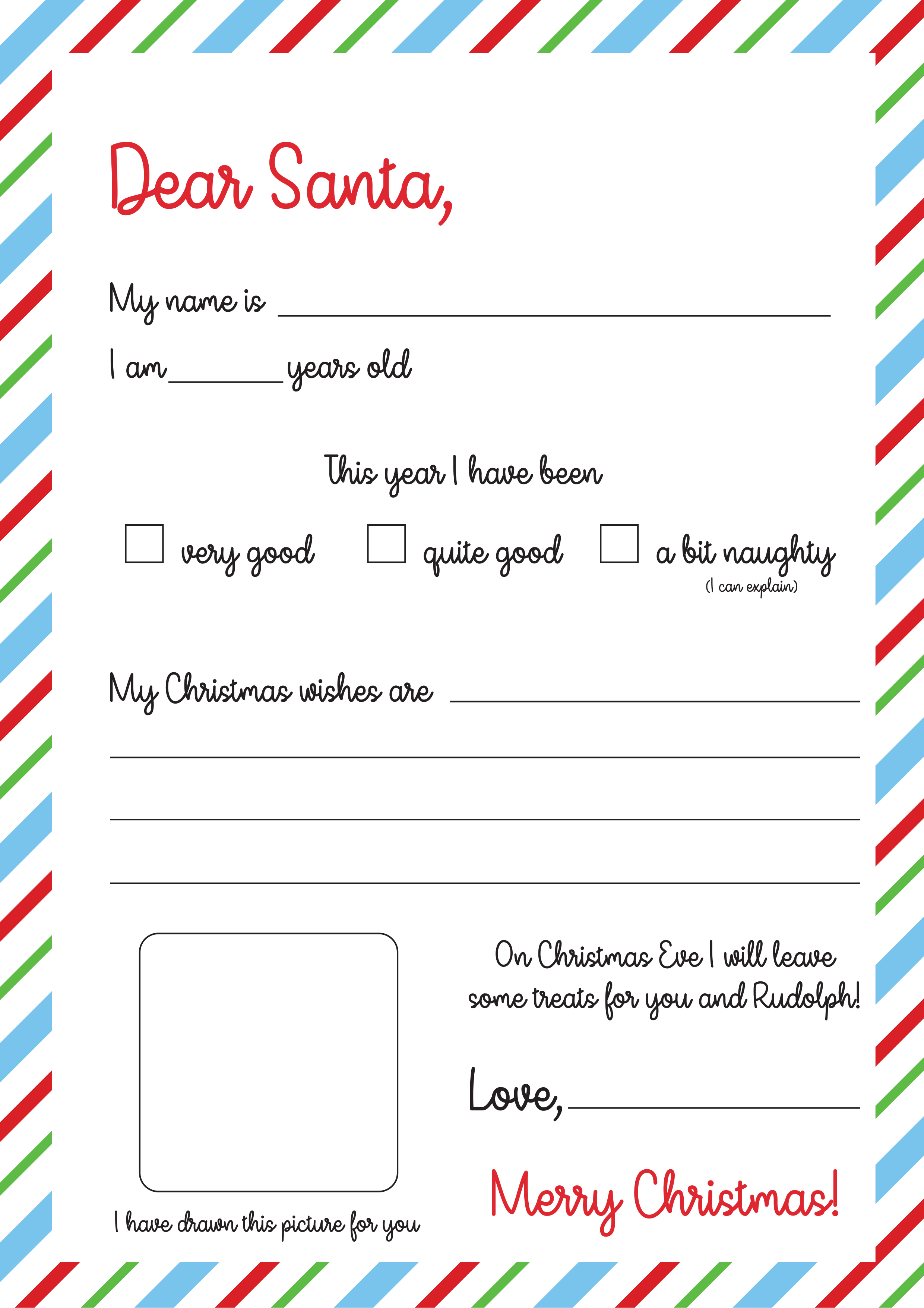Free Letter To Santa Template Print