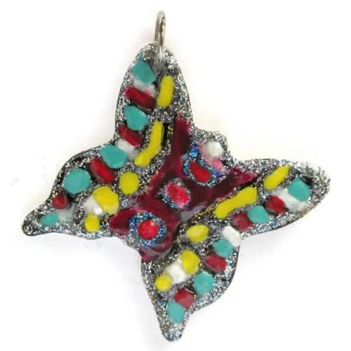 Ceramic-Butterfly Pendant