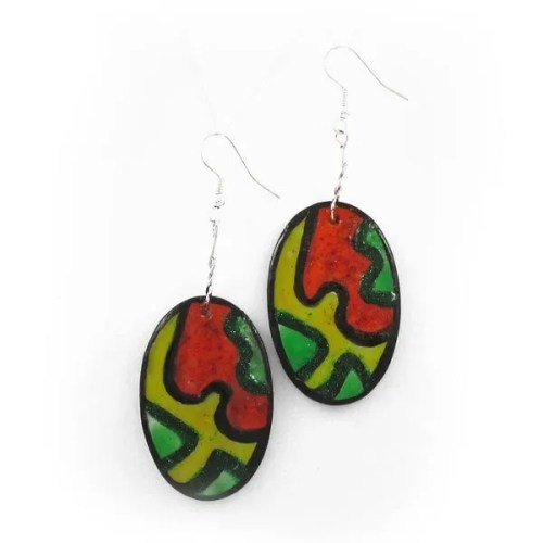 Oval Abstract Earrings