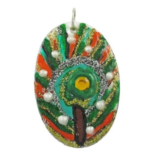 Peacock Shell Pendant