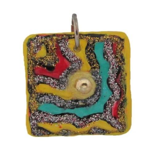 square-ceramic pendant