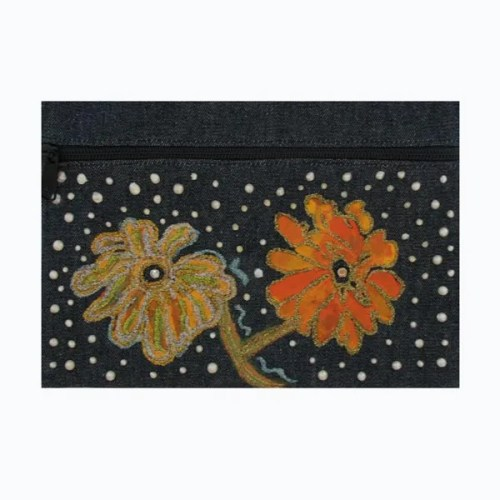 Flower and Pearl Cosmetic Bag