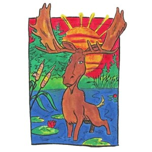Moose Sun Close