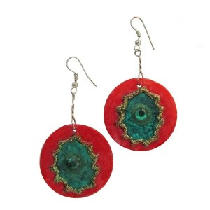 Festive Red-Green Earrings