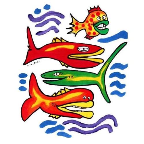 Fish Posse Pillowcase Painting Kit