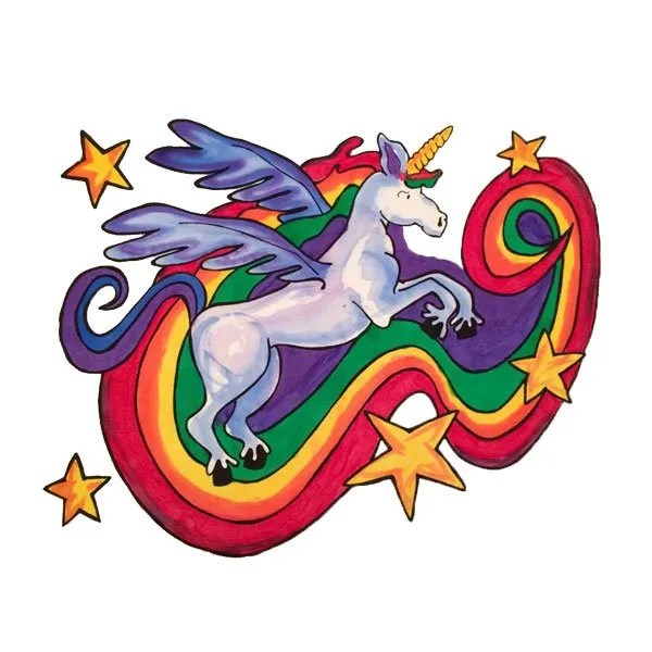 Rainbow Unicorn Pillowcase Kit