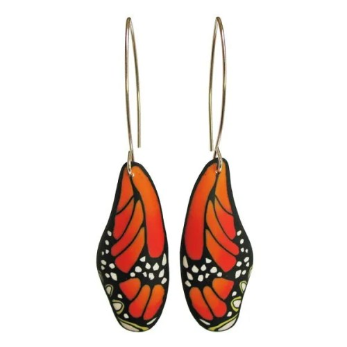 Butterfly Earrings Orange