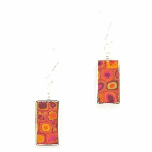Rectangular Mosaic Earrings Fiesta