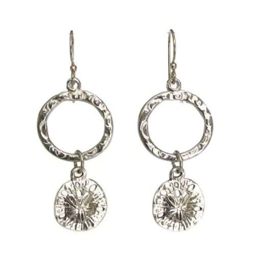 sanddollar hoop earrings